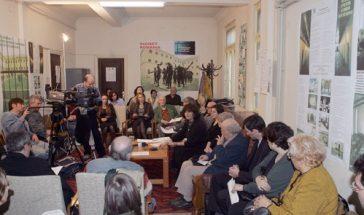 Conferinţa de presă Recensământul populaţiei concentraţionare din România (1945-1989). Ana Blandiana, Ioana Boca, Romulus Rusan