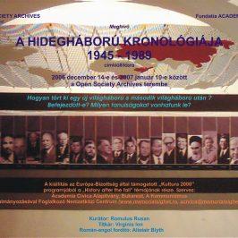 """Expoziţia """"O cronologie a războiului rece"""" la Budapesta, 14 decembrie 2006"""