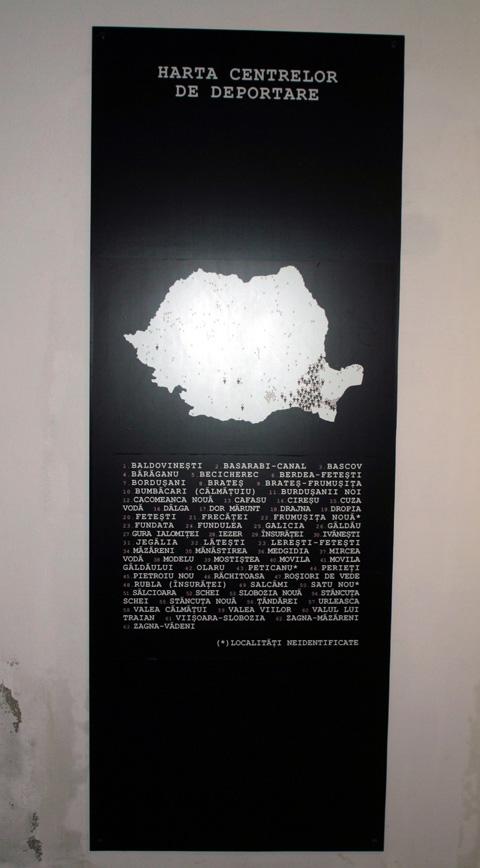 Sala 5. Harta centelor de deportare.