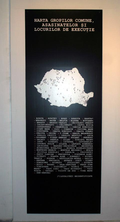 Sala 5. Harta gropilor comune, asasinatelor şi locurilor de execuţie