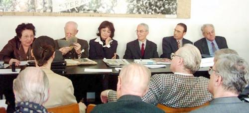 Dr. Mariana Florian, acad. Constantin Bălăceanu-Stolnici, Ana Blandiana, arh. Aurelian Trişcu, dr. Dinu Antonescu, dr. Theodor Ionescu