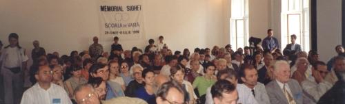 Simpozionul de la Sighet, 1999. Imagini din sala de conferinţe