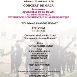 Concert de gala la Ateneul Român în onoarea jubileului de 20 de ani al Memorialului Sighet