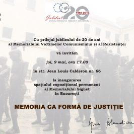 Memoria ca formă de justiţie, spaţiul expoziţional permanent al Memorialului Sighet la Bucureşti
