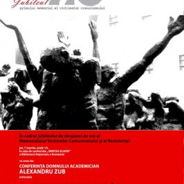 7 martie 2013, conferinţa acad. Alexandru Zub: O instituţie pentru România – Memorialul Sighet