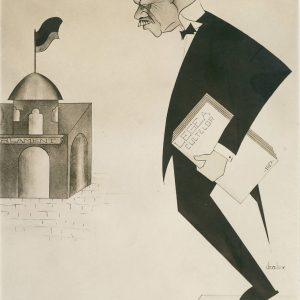Alexandru Lapedatu - caricatură 1928