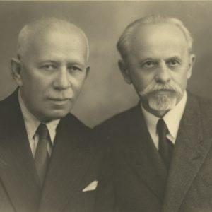 Ion Lapedatu cu Dr. I. Lupaș