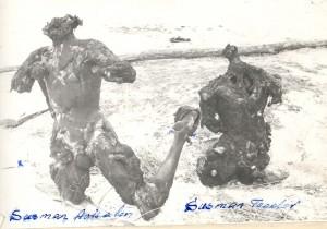 Corpurile incinerate ale fratilor Teodor si Avisalon Susman, fotografie realizata de Securitate