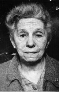 Alice Voinescu, fotografie de la arestare