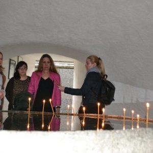 Vizita dnei Marjorie Stern, atașatul cultural al Ambasadei SUA, la Memorialul Sighet