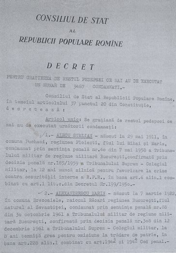 Decretul de grațiere nr. 310/1964