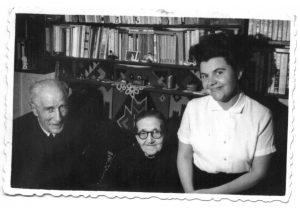 Ilie Lazar cu fiica cu sotia