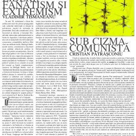 Revista Orizont: Cristian Pătrășconiu, SUB CIZMA COMUNISTĂ
