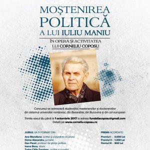 Concurs de eseuri MOȘTENIREA POLITICĂ A LUI IULIU MANIU ÎN OPERA ȘI ACTIVITATEA LUI CORNELIU COPOSU