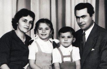 Cu soțul și cei doi copii