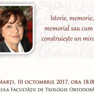 Istorie, memorie, memorial. Conferința Anei Blandiana la Facultatea de Teologie Ortodoxă – Universitatea Babeș-Bolyai