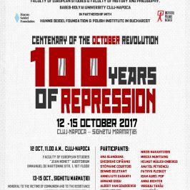 Conferința Centenarul Revoluției din octombrie. 100 de ani de represiune, 12-15 octombrie, Cluj-Sighet